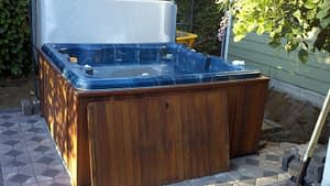 Hot tub, filled and ready for fun
