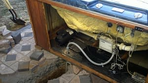 Wiring inside hot tub motor compartment